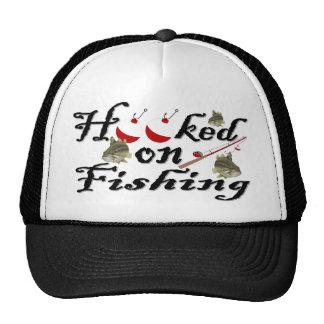 enganchado en la pesca gorro