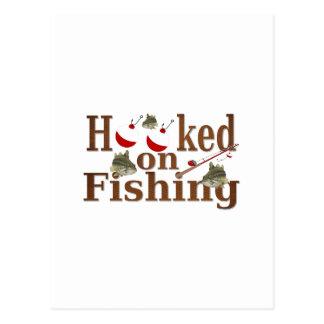 enganchado en la pesca postales