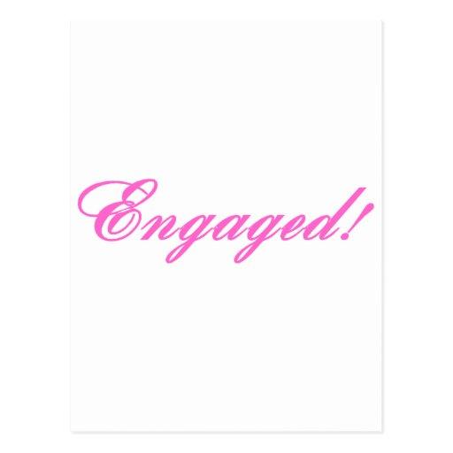 Enganchado (rosa) tarjeta postal