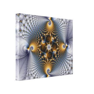 Enganchado y pescado - fractal impresión en tela