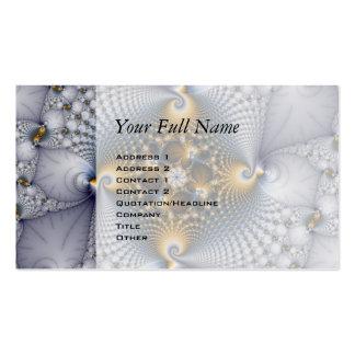 Enganchado y pescado - fractal tarjeta de visita