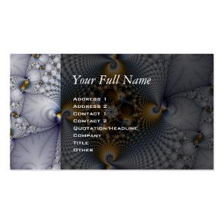 Enganchado y pescado - fractal tarjetas de visita