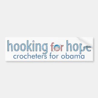 Enganchando para la esperanza, pegatina para el pa etiqueta de parachoque