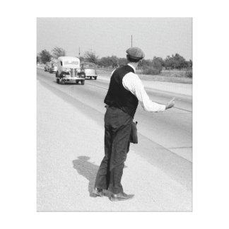 Enganchar un paseo, 1939 impresion en lona