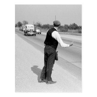 Enganchar un paseo, 1939 postal