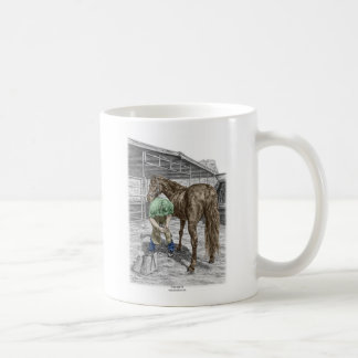 Enganche del caballo del ajuste del herrero del taza clásica