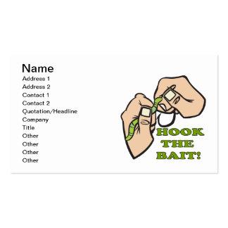 Enganche el cebo plantillas de tarjetas de visita
