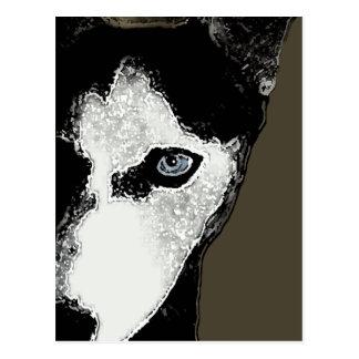Enganche el perro esquimal postales