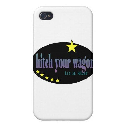 Enganche su carro a una estrella iPhone 4 fundas