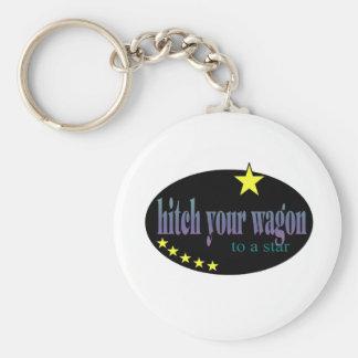 Enganche su carro a una estrella llaveros personalizados