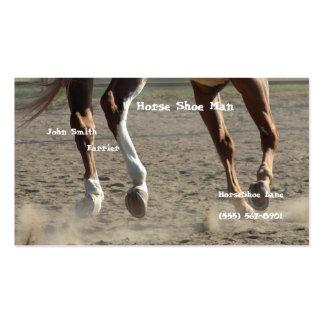 Enganches del caballo en el movimiento plantilla de tarjeta de negocio