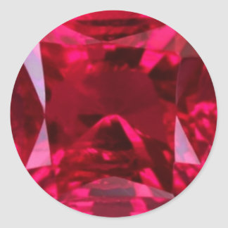 Engañe el falso rubí del ojo por Sharles Pegatina Redonda