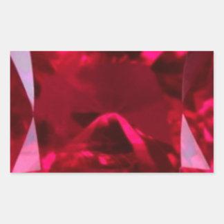 Engañe el falso rubí del ojo por Sharles Pegatina Rectangular
