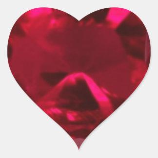 Engañe el falso rubí del ojo por Sharles Pegatina En Forma De Corazón