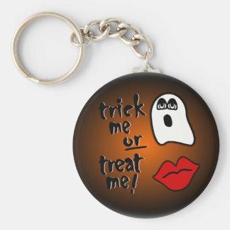 Engáñeme o tráteme con el fantasma y los labios Gr Llaveros Personalizados