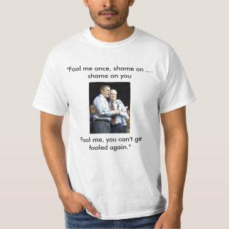 Engáñeme una vez camiseta playeras
