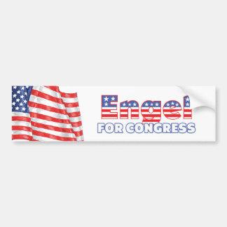 Engel para la bandera americana patriótica del con pegatina para auto