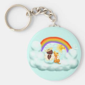 Engel und Hund Key Chains