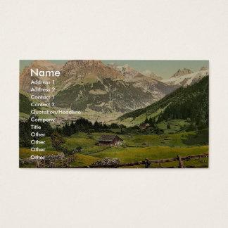Engelberg Valley, Arni Alp, Bernese Oberland, Swit Business Card