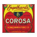 Engelhard's Coffee LabelLouisville, KY Canvas Print