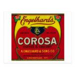 Engelhard's Coffee LabelLouisville, KY Postcard