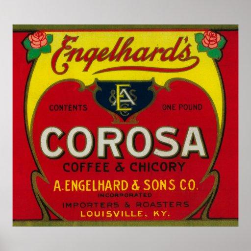 Engelhard's Coffee LabelLouisville, KY Poster