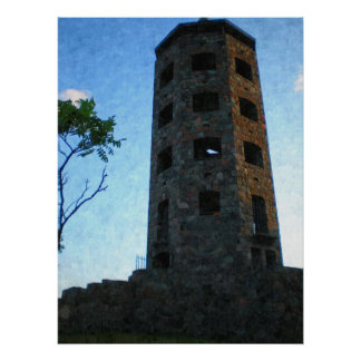 Enger Tower Close Up-Painting Print