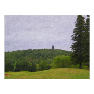 Enger Tower from golf course-Painting Print