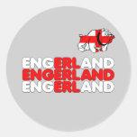 Engerland footy classic round sticker