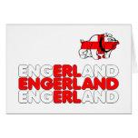 Engerland footy greeting card