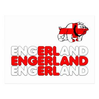 Engerland footy postcard