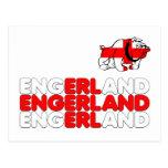 Engerland footy postcards