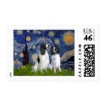 Engilsh Springer Pair - Starry Night Postage Stamps