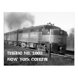 engine1002, central del motor no 1002New York Tarjeta Postal
