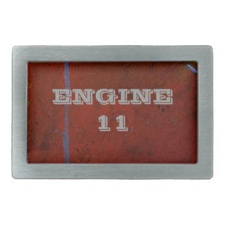 Engine 11 rectangular belt buckle