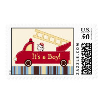 Engine 27 Fire Truck Puppy Custom Postage Stamps