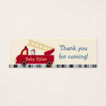 Engine 27 Fire Truck Puppy Favor Gift Tags