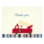 Engine 27 Fire Truck Puppy Thank You Note Cards Custom Invites