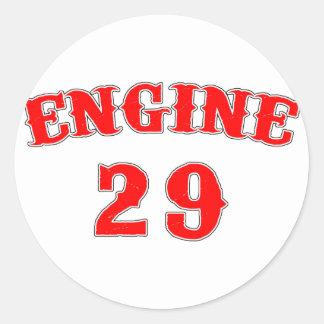 engine 29 classic round sticker