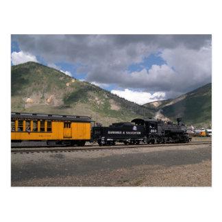Engine 480 pulls Tourist Train into Silverton, CO Postcard