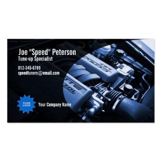Engine Blue Car Service Business Card