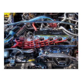 Engine - Car Intestines Postcard