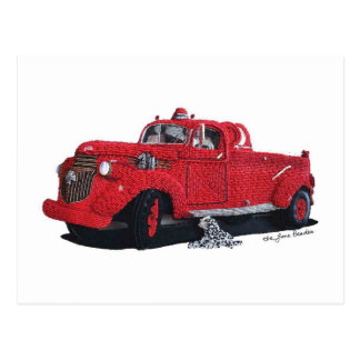 Engine Co. 6 Fire Truck Postcards