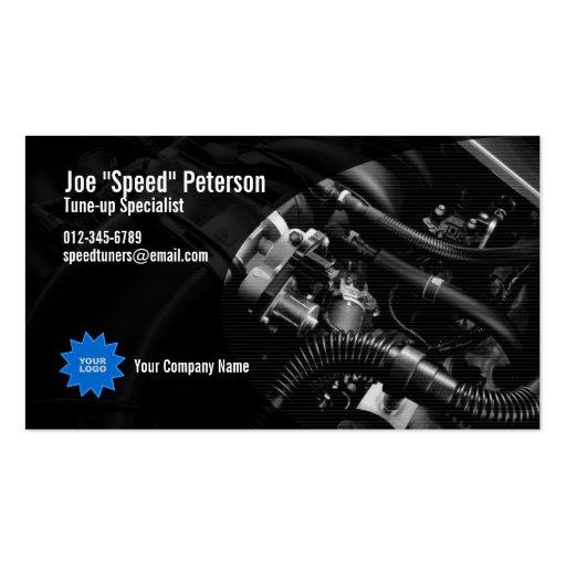 Engine Grey Car Service Business Card