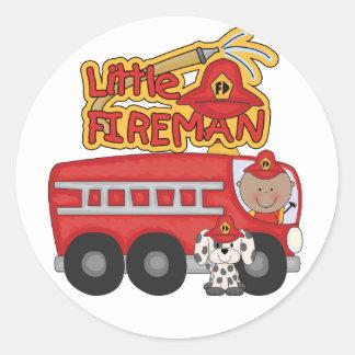 Engine Little Fireman African American Tshirts Classic Round Sticker