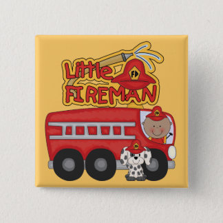 Engine Little Fireman African American Tshirts Pinback Button