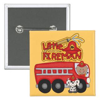Engine Little Fireman African American Tshirts Pinback Button