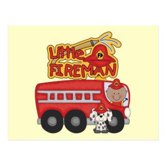 Engine Little Fireman African American Tshirts Postcard