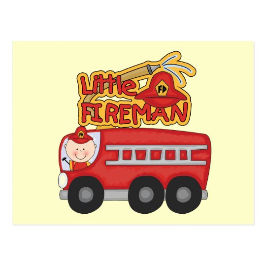 Engine Little Fireman Tshirts and Gifts Postcard