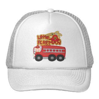 Engine Little Fireman Tshirts and Gifts Trucker Hat